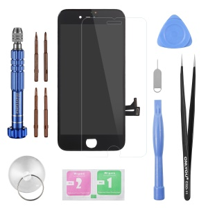 LCD Screen and Digitizer Assembly Replace Part (Made by China Manufacturer) + Disassemble Repair Opening Tool Kit for iPhone 8 - Black