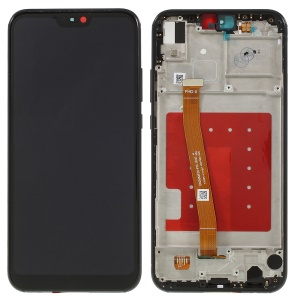 LCD Screen and Digitizer Assembly + Frame Part Replacement for Huawei P20 Lite / Nova 3e - Black