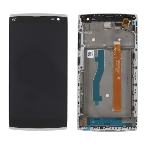OEM LCD Screen and Digitizer Assembly + Frame Part for Alcatel One Touch Orange Nura M812 - Black / Silver