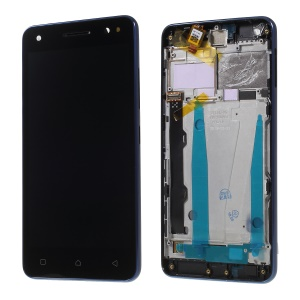 OEM LCD Screen and Digitizer Assembly + Frame Part for Lenovo Vibe S1 Lite - Black / Blue