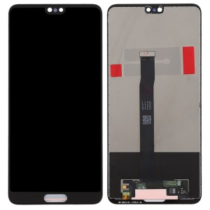 LCD Screen and Digitizer Assembly Spare Part for Huawei P20 (Non-OEM Screen Glass Lens, OEM Other Parts) - Black