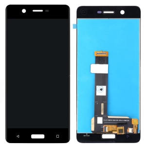 For Nokia 5 (2017) LCD Screen and Digitizer Assembly Part Replacement (Non-OEM Screen Glass Lens, OEM Other Parts) - Black