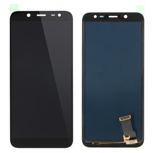 LCD Screen and Digitizer Assembly Repair Part for Samsung Galaxy J6 (2018) J600 with Screen Brightness IC - Black