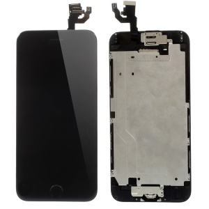 For iPhone 6 4.7 LCD Screen and Digitizer Assembly with Small Parts (Made by China Manufacturer, 380-450cd/? Brightness) - Black