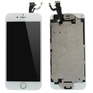 For iPhone 6 4.7 LCD Screen and Digitizer Assembly Repair Part with Small Parts (Made by China Manufacturer, ESR+Full View, 380-450cd/m2 Brightness) - White