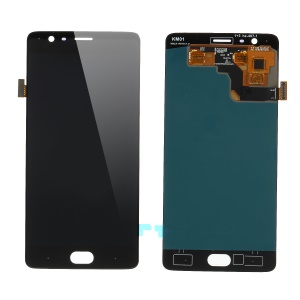 LCD Screen and Digitizer Assembly Replacement for OnePlus 3T/3 (OLED Version) - Black
