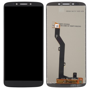 For Motorola Moto E5 LCD Screen and Digitizer Assembly Spare Part - Black