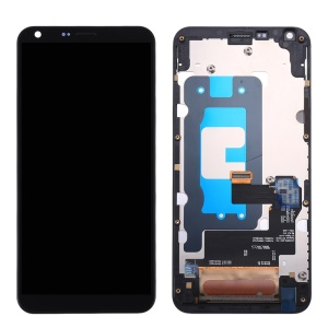 LCD Screen and Digitizer Assembly with Frame for LG Q6 - Black