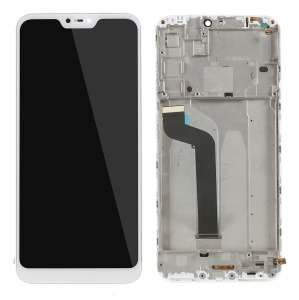 LCD Screen and Digitizer Assembly + Frame Part (Non-OEM Screen Glass Lens, OEM Other Parts) for Xiaomi Mi A2 Lite / Redmi 6 Pro - White