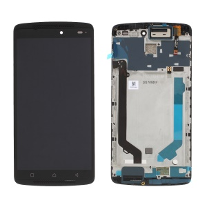 OEM LCD Screen and Digitizer Assembly with Frame for Lenovo K4 note / A7010 - Black