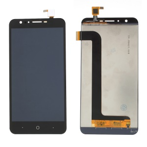 LCD Screen and Digitizer Assembly + Frame Replace Part for Doogee Y6 - Black