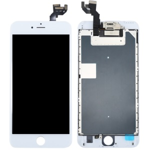 For iPhone 6s Plus LCD Screen and Digitizer Assembly with Small Parts [Without Home Button] (Made by China Manufacturer, 380-450cd/? Brightness) - White
