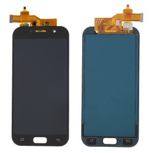 LCD Screen and Digitizer Assembly Part with Screen Brightness IC for Samsung Galaxy A5 (2017) - Black