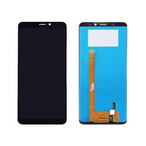 LCD Screen and Digitizer Assembly Part (OEM) for Wiko View XL - Black