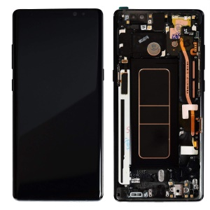 LCD Screen and Digitizer Assembly with Frame for Samsung Galaxy Note 8 SM-N950 - Black