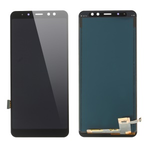 LCD Screen and Digitizer Assembly Repair Part with Screen Brightness IC for Samsung Galaxy A8+ (2018) A730 - Black