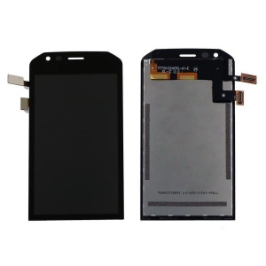 OEM LCD Screen and Digitizer Assembly Replace Part for CAT S40 - Black