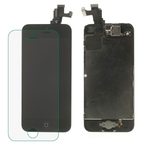 Black for iPhone 5c LCD Screen and Digitizer Assembly with Front Camera/Home Button etc (Made by China Manufacturer, 220-300cd/m2 Brightness)