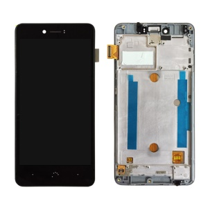 LCD Screen and Digitizer Assembly Replacement with Frame for BQ Aquaris U / U Lite - Black