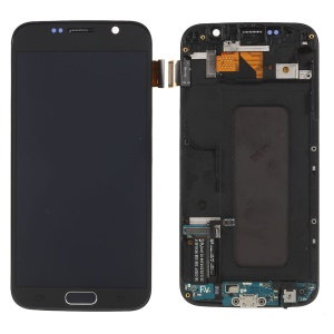 LCD Screen and Digitizer Assembly Part + Frame (TFT Version) for Samsung Galaxy S6 SM-G920 - Grey