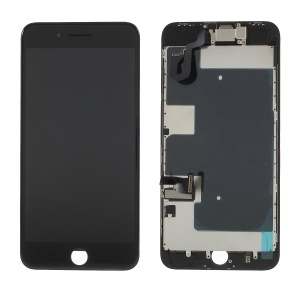 For iPhone 8 Plus 5.5 inch High Quality LCD Screen and Digitizer Assembly with Frame + Small Parts (380-450cd/m2 Brightness + Full View) - Black