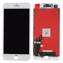 High Quality LCD Screen and Digitizer Assembly Part with Frame for iPhone 8 Plus 5.5 inch (380-450cd/m2 Brightness + Full View) - White
