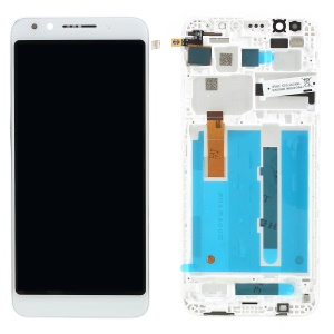 OEM LCD Screen and Digitizer Assembly + Frame for Vodafone Smart N9 lite - White