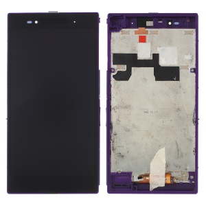 LCD Screen and Digitizer Assembly with Frame for Sony Xperia Z Ultra XL39h C6806 - Purple