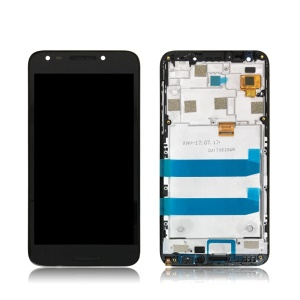 OEM LCD Screen and Digitizer Assembly + Frame for Alcatel A30 Feroz Plus 5049 - Black