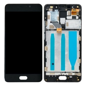 OEM LCD Screen and Digitizer + Assembly Frame Part Replacement for Meizu M6 Note - Black