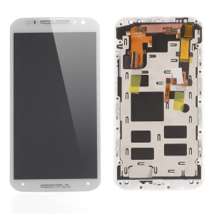 LCD Screen and Digitizer Assembly with Front Housing for Motorola Moto X2 XT1097 (OEM Disassembly Refurbished) - White