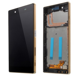 LCD Screen and Digitizer Assembly with Front Housing for Sony Xperia Z5 (OEM material assembly) - Gold