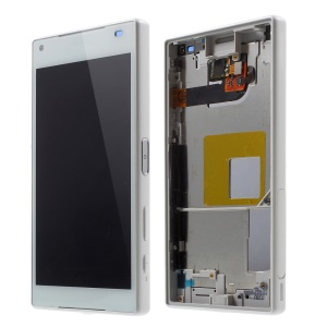 LCD Screen and Digitizer Assembly with Front Housing for Sony Xperia Z5 Compact (OEM material assembly) - White