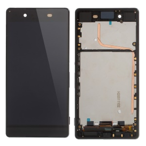 LCD Screen + Touch Screen Digitizer Assembly with Frame for Sony Xperia Z3+ E6553 - Black