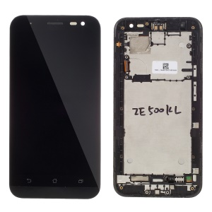 LCD Screen and Digitizer Assembly with Front Housing for Asus Zenfone 2 Laser ZE500KL (OEM Disassembly)