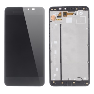 LCD Screen and Digitizer Assembly with Frame for Microsoft Lumia 640 XL (OEM Material Assembly) - Black
