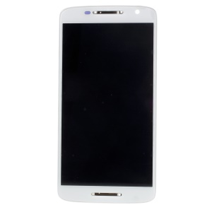 LCD Screen and Digitizer Assembly with Frame for Motorola Moto X Play (OEM Material Assembly) - White