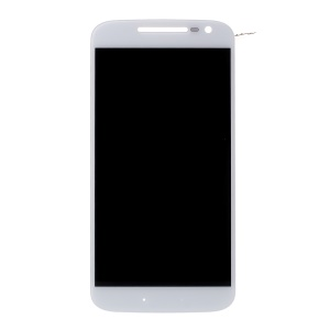 OEM LCD Screen and Digitizer Assembly Part for Motorola Moto G4 - White