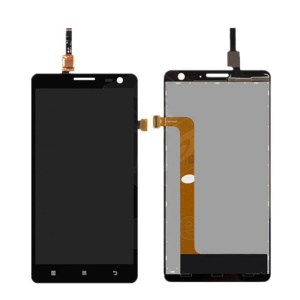 For Lenovo S856 OEM LCD Screen and Digitizer Assembly Replacement Part - Black