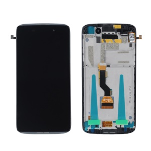 OEM LCD Screen and Digitizer Assembly + Frame for Alcatel One Touch Idol 3 4.7 OT-6039 - Black