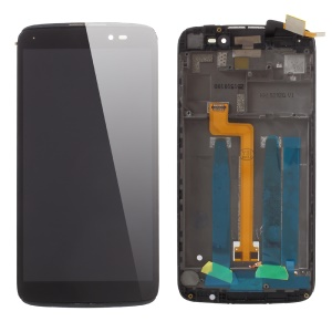 OEM LCD Screen and Digitizer Assembly + Frame for Alcatel OneTouch Idol 3 (5.5) OT-6045 - Black