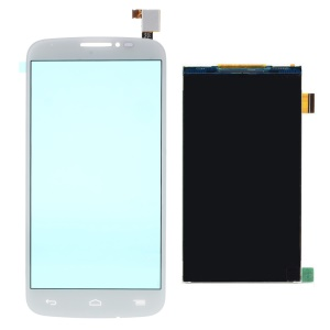 OEM Digitizer Touch Screen + LCD Screen Display Part for Alcatel One Touch POP C7 7040 - White