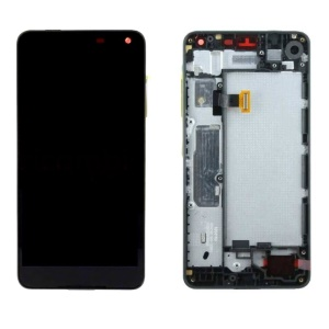 OEM Screen y Digitizer Assembly + Frame Reemplazar la pieza para Microsoft Lumia 650 - Negro