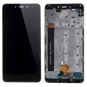 Screen and Digitizer Assembly + Frame Replacement Part (Non-OEM Screen Glass Lens, OEM Other Parts) for Xiaomi Redmi Note 4 - Black