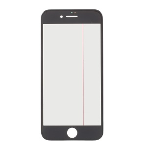Front Screen Glass Lens with Frame OCA Adhesive Sticker LCD Polarizer Film Parts for iPhone 8 - Black