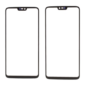 Black- Front Screen Glass Lens Cover Replacement for OnePlus 6