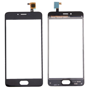 Assembly Touch Digitizer Screen Glass Part for Meizu m3s - Black