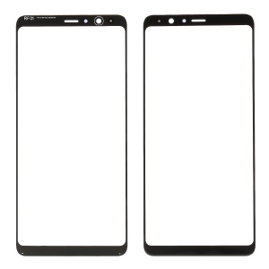 Front Screen Glass Lens Replacement Part for Samsung Galaxy A8 Star / A9 Star - Black