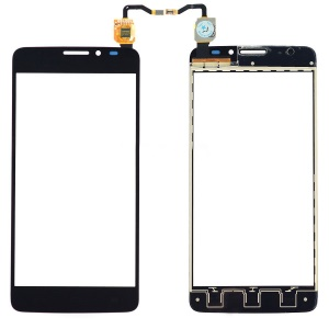 OEM Touch Digitizer Screen Glass Replacement for Alcatel One Touch Idol X OT-6040 - Black