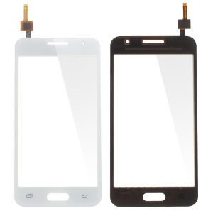 Digitizer Touch Screen Glass Part for Samsung Galaxy Core 2 Dual SIM SM-G355H (with Duos Letters, OEM Material Assembly) - White